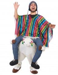 Rider på Lama - Carry me-dräkt för vuxna till festen