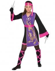 Rosalila ninjadräkt barn