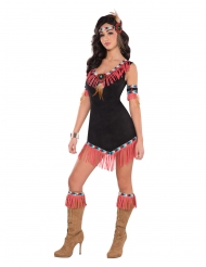 Sexig svart indiandräkt dam
