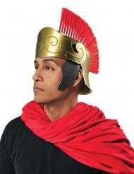 Romersk hjälm med röd plym vuxen