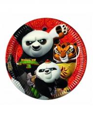 8 Kung Fu Panda 3™ papptallrikar 23 cm