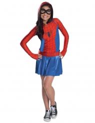 Spider-Girl™ dräkt med huva barn