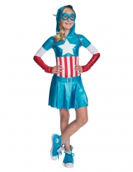 Captain America™ - Metallskimrande klänning för barn