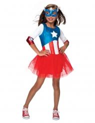 Captain America™ - Maskeraddräkt med tyllkjol för barn