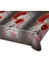 Blodig duk med kirurg verktyg som motiv 180*130cm - Halloween pynt