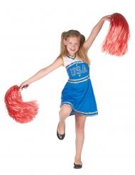 Sprallig cheerleader - Maskeraddräkt för barn