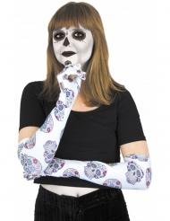 Långa handskar till De dödas dag - Halloweentillbehör