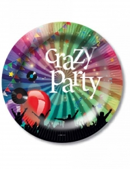 6 Crazy Party papptallrikar 23 cm