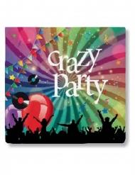 20 Crazy Party mörka pappersservetter 33x33 cm