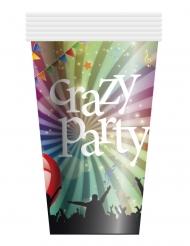 6 Crazy Party pappmuggar 25 cl