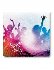20 Crazy Party pappersservetter 33x33 cm