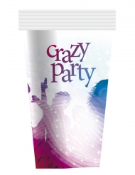 6 Crazy Party pappmuggar 25 cl