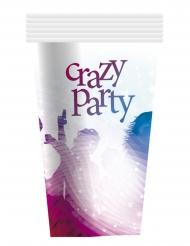 6 vita Crazy Party pappmuggar 25 cl