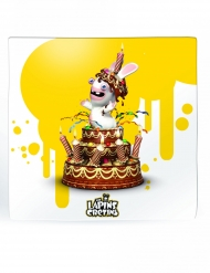 20 Raving Rabbids™ gula pappersservetter 33x33 cm