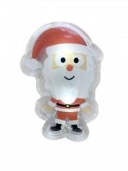 Jultomte klistermärke med LED-ljus 15,5x12 cm