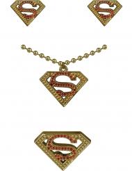Supergirl™ örhängen, halsband och ring