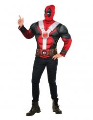 Deadpool™ Muskeltröja och mask