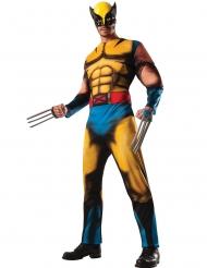 Wolverine X-Men™ deluxe muskeldräkt vuxen