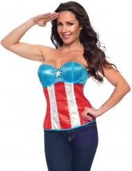 Captain America™ paljettkorsett dam