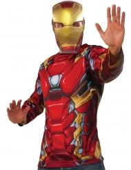 Captain America Civil War Iron Man™ tröja och mask vuxen