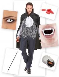 Blodtörstig greve - Komplett maskeradkit till Halloween