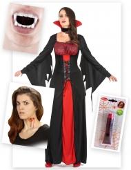 Grevinnan Dracula - Komplett maskeradkit till Halloween
