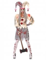 Blodig Harlekin dräkt för damer - Halloween Maskeraddräkter