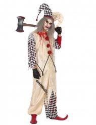 Blodig harlekin maskeraddräkt för män - Halloween maskeraddräkt