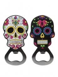 Kapsylöppnare med Dia de los muertos motiv - Halloween tillbehör