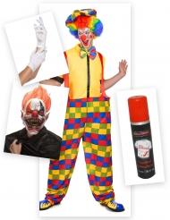 Läskige Lukas clown-set Halloween