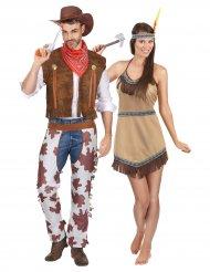 Cowboy och Indiandräkt för par