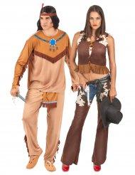 Cowgirl och indian vuxen pardräkt