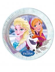 Elsa & Anna från Frost™ - 8 tallrikar med snöflingor till kalaset