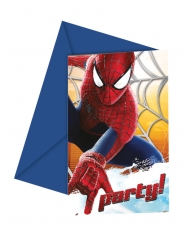 6 The Amazing Spiderman™ inbjudningskort 12x12,5 cm