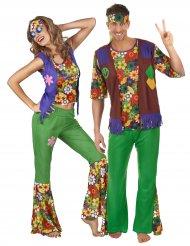 Flower Power Couple - Maskeradkläder för vuxna