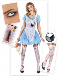 Blodiga Alice - Komplett maskeradkit till Halloween