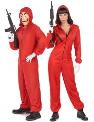 Par i röda rånare - Maskeradkläder för par