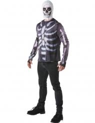 Skull Trooper Fortnite™ T-shirt och huva för vuxna - Maskeradkläder