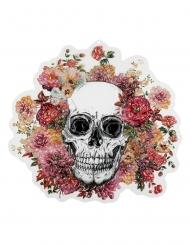 Väggdekoration med blommigt dödskallemotiv 46*50 cm - Halloween pynt