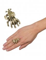 Skeletthand på ring - Halloween tillbehör