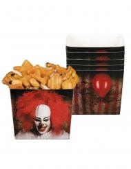 6 Pappersskålar med kuslig clown på 40 cl
