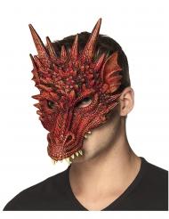 Halv drakmask iskumgummi för vuxna - Halloween maskar