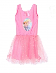 Rosa klänning med tyll från Frost™ - Maskeradkläder för barn