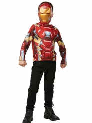 T-tröja mask Iron Man™ barn
