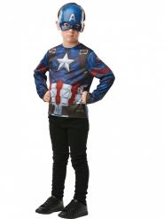 Captain America ™ T-tröja med mask barn