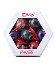 7 Coca-Cola™ julgranskulor 7,5 cm