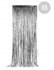 5 glittriga silverridåer