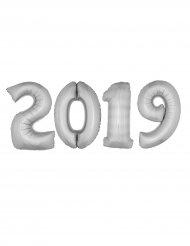 2019 - Jätteballonger i silverfärgar aluminium 100 cm