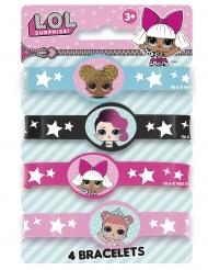 4 LOL Surprise™ elastiska armband