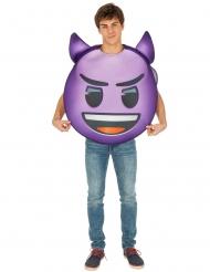 Lila djävul Emoji™ vuxendräkt